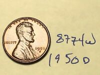 1950 D LINCOLN WHEAT CENT / PENNY RED 8774W