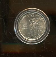 2000 P UNITED STATES NEW HAMPSHIRE STATE QUARTER 25C COIN JD