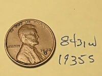 1935-S LINCOLN WHEAT ONE CENT PENNY COIN 8431W