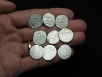 LOT OF 9 SILVER DIRHAM MEDIEVAL ISLAMIC COINS