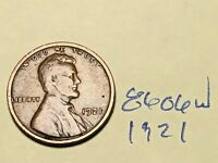 1921 1C BN LINCOLN CENT 8606W WHEAT CENT VG - F