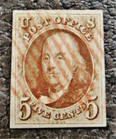 NYSTAMPS US STAMP  1 USED $450