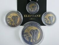 SOMALIA 2015 GOLDEN ENIGMA SET AFRICAN WILDLIFE ELEFANT 1/4