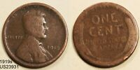 1919-S LINCOLN CENT CIRCULATED WHEAT CENT SAN FRANCISCO MINT SHIPS FREE