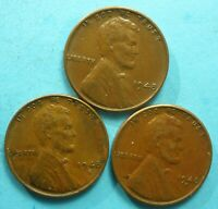 1948-P 1948-D 1948-S LINCOLN WHEAT CENTS  3 COINS  SHIPS FREE