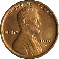 1916-D LINCOLN CENT CHOICE BU GREAT EYE APPEAL FANTASTIC LUSTER  STRIKE