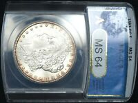 1883-CC MORGAN DOLLAR MINT STATE 64 ANACS
