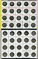 LOT OF 20 MIXED BUST DIMES AND HALF DIMES