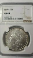 1899 MORGAN DOLLAR NGC MINT STATE 65