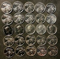 OLD NEW ZEALAND COIN LOT   5 CENTS   25 HIGH QUALITY LIZARD