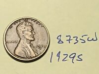 1929-S 1C BN LINCOLN CENT 8735W WHEAT CENT F - VF