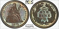 1870 10C SEATED LIBERTY DIME PCGS PR65 CAC-VERIFIED PROOF