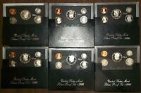 6 SILVER PROOF SET 1992 1994 1995 1996 1997 1ST OWNER COINS