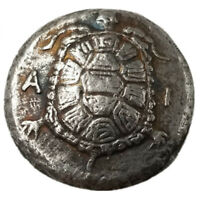 SILVER PLATED GREEK ANCIENT TORTOISE COIN THE GREAT GREEK COIN NO.48