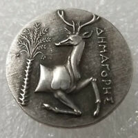 SILVER PLATED GREEK ANCIENT ANIMAL COIN THE GREAT GREEK COIN NO.450