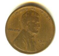 1909 S VDB LINCOLN CENT BEAUTIFUL ORIGINAL VF  STRONG VDB. N