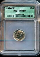 1996 W ICG MS 66  MINT STATE 66  ROOSEVELT DIME BO718