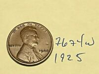 1925 1C BN LINCOLN CENT 7674W WHEAT CENT