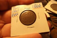 1866 TWO CENT PIECE .. SHIPS FREE