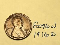 1916-D 1C BN LINCOLN CENT 8096W WHEAT CENT G