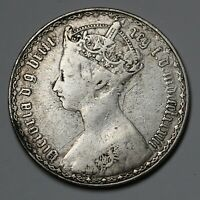 1883 UK GREAT BRITAIN SILVER GOTHIC FLORIN COIN MDCCCLXXXIII