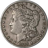1889-P MORGAN SILVER DOLLAR - VAM - BAR WING GREAT DEALS - BBDM10175