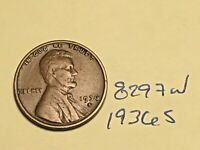 1936 S 1C LINCOLN WHEAT CENT CENT 8297W VG