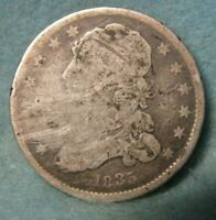 1835 CAPPED BUST SILVER QUARTER   UNITED STATES COIN