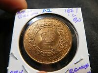 A2 CANADA NEW BRUNSWICK 1861 LARGE CENT BU OBV. COLOR FUNKY REV. COLOR ORIGINAL