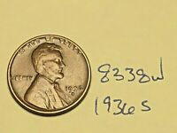 1936 S 1C LINCOLN WHEAT CENT CENT 8338W VG