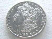 1886-S MORGAN DOLLAR, R DATE -  STRONG DETAILS 12-12-A