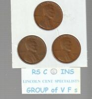 1940S &  1941S  &  1942S       FINES    LINCOLN  CENT  3  COIN  SET