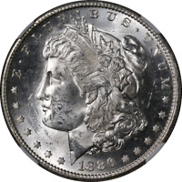 1886-S MORGAN SILVER DOLLAR NGC MINT STATE 62 BLAST WHITE GREAT EYE APPEAL STRONG STRIKE
