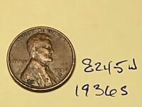 1936 S 1C LINCOLN WHEAT CENT CENT 8245W