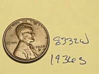 1936 S 1C LINCOLN WHEAT CENT CENT 8332W VG