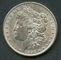 UNITED STATES 1898  MORGAN SILVER DOLLAR  YOU DO THE GRADING HAVE FUN