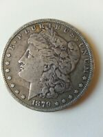 1879 MORGAN SILVER DOLLAR, 2ND YEAR OF ISSUE, 140 YEARS IN CIRCULATION.