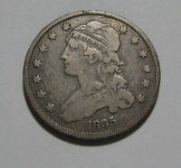 1835 CAPPED BUST QUARTER   VERY FINE   CONDITION   93SU