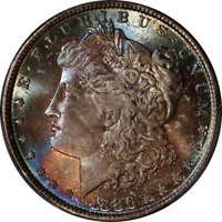 1886 MORGAN SILVER DOLLAR CAC STICKER GORGEOUS COLOR PCGS MINT STATE 66 SUPERB EYE APPEAL