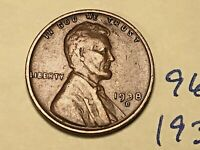 1938 D LINCOLN CENT 9617W 1C WHEAT CENT