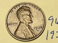 1938 D LINCOLN CENT 9686W 1C WHEAT CENT