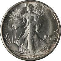 1945-S WALKING LIBERTY HALF GREAT DEALS FROM THE EXECUTIVE COIN COMPANY BBHW7976