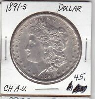 1891-S MORGAN DOLLAR   AU CONDITION