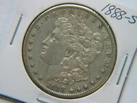 1888-S MORGAN DOLLAR  DATE SHARP EXAMPLE LIGHT CLEANING