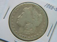 1888-S MORGAN SILVER DOLLAR  DATE CLEANED