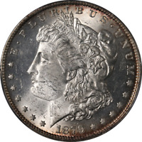 1879-O MORGAN SILVER DOLLAR PCGS MINT STATE 62 GREAT EYE APPEAL FANTASTIC LUSTER