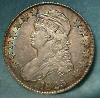 1825 CAPPED BUST SILVER HALF DOLLAR VF XF DETAILS   UNITED S