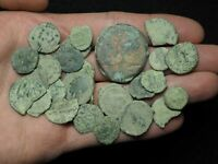 LOT OF 25 UNCLEANED SAND PATINA ROMAN COINS FOUND IN SPAIN