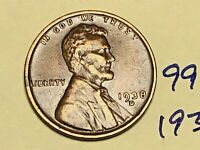 1938 D LINCOLN CENT 9916W 1C WHEAT CENT