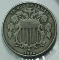 1882 SHIELD NICKEL  BEAUTIFUL